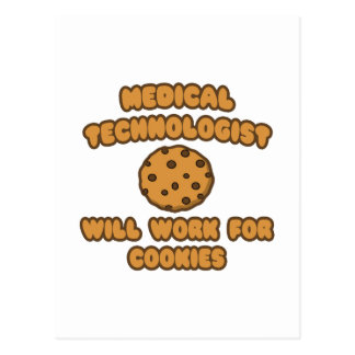 Medical Technologist  .. Will Work for Cookies Postcard