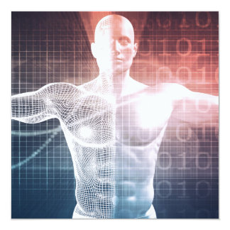 Medical Technology Software as a Background Art Card
