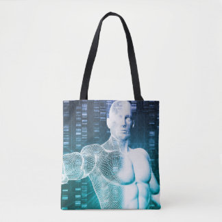Medical Technology with Scientist Engineer on DNA Tote Bag