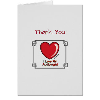 Medical Thank You Audiologist Card
