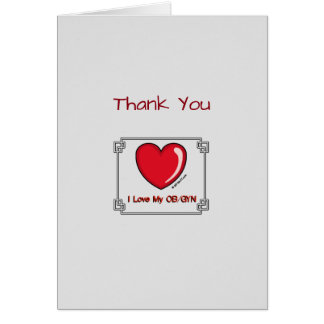 Medical Thank You Obstetrician Card