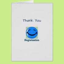 Medical Thank You Registration Dept Card