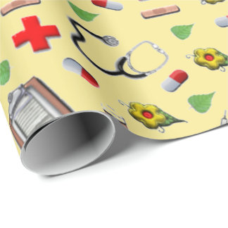 medical theme wrapping paper