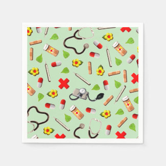 Medical Themed Paper Napkin