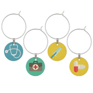 Medical Themed Wine Charms