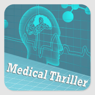 Medical Thriller Genre Book Cover Square Sticker