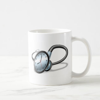 Medical time stethoscope concept classic white coffee mug
