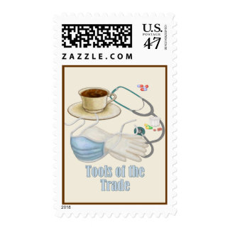 Medical Tools Postage Stamp