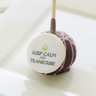 Medical Transcription Cookies Cake Pops