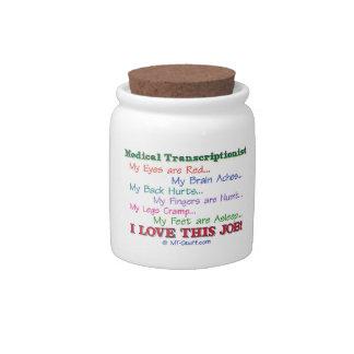 Medical Transcription I Love This Job Candy Jars