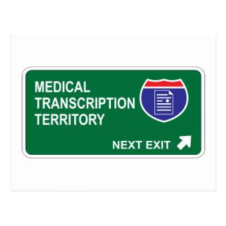 Medical Transcription Next Exit Postcard