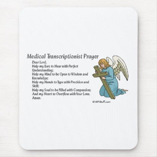 Medical Transcription Prayer Mouse Pad