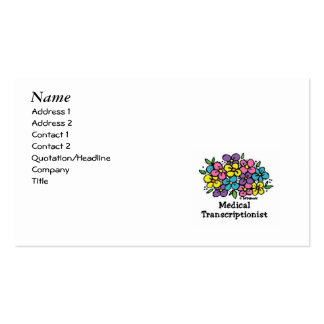 Medical Transcriptionist Blooms 2 Double-Sided Standard Business Cards (Pack Of 100)