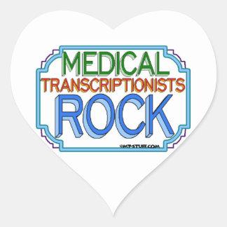 Medical Transcriptionists Rock Heart Sticker