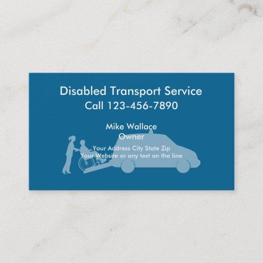 Medical Transport Business Cards Zazzle