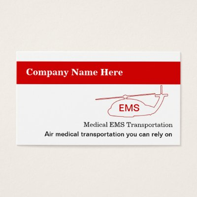 Medical transport business cards zazzle colourmoves Image collections