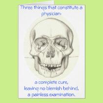 Medical Triad with Skull card
