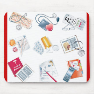 MEDICAL vector icons Mouse Pad