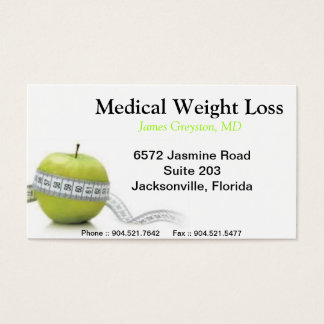 Medical Weight Loss Business Cards
