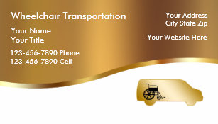 Transportation business cards templates zazzle medical wheelchair transport business cards colourmoves