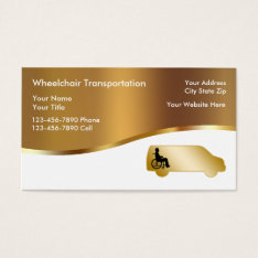 Medical Wheelchair Transport Business Cards at Zazzle