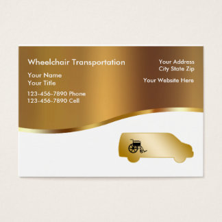 Medical Wheelchair Transport Business Cards