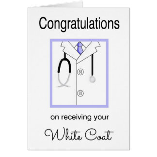 Medical White Coat Congratulations Card