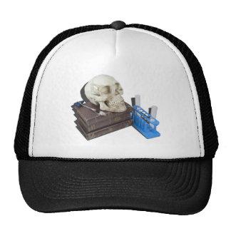 MedicalBooksSkullTestTubes051213.png Trucker Hat