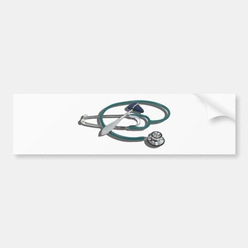 MedicalHammerStethoscope112010 Etiqueta De Parachoque