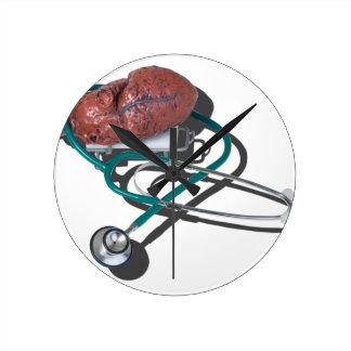 MedicalHeartGurneyStethoscope092715.png Reloj Redondo Mediano