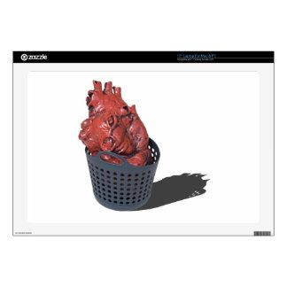 "MedicalHeartLaundryBasket092715.png 17"" Laptop Skin"