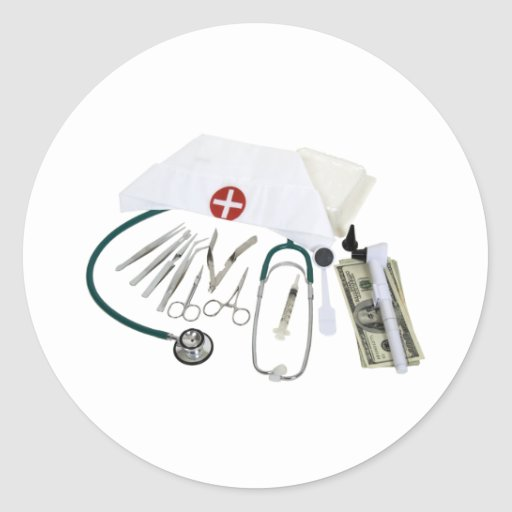 MedicalToolsFunds082309 Pegatina Redonda