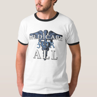 MEDICARE FOR ALL b&w t-shirt