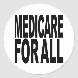 Medicare For All Classic Round Sticker