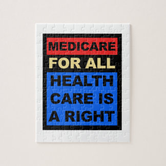 Medicare for All - Healthcare is a Right Jigsaw Puzzle