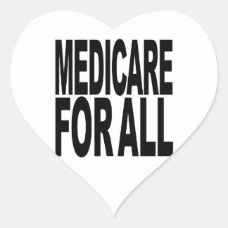 Medicare For All Heart Sticker