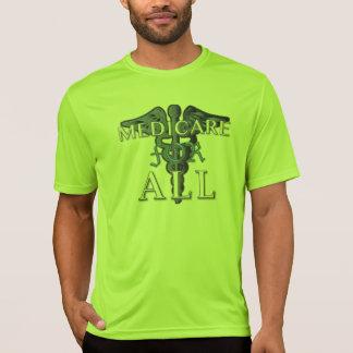 MEDICARE FOR ALL sport-tek t-shirt lime