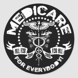 Medicare For Everybody Classic Round Sticker