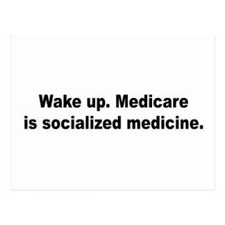 Medicare is socialized medicine postcard