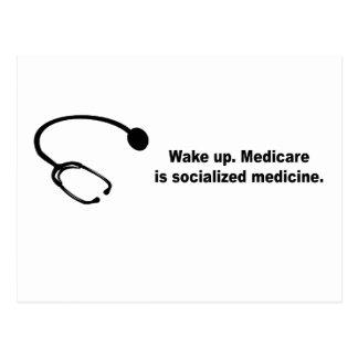 Medicare is socialized medicine postcards