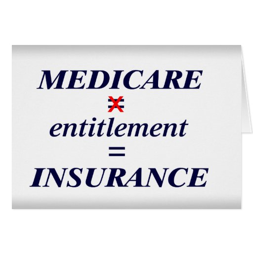 Medicare not Entitlement Greeting Card