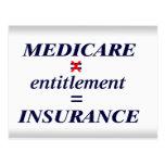 Medicare not Entitlement Postcard
