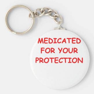 MEDICATED.png Basic Round Button Keychain