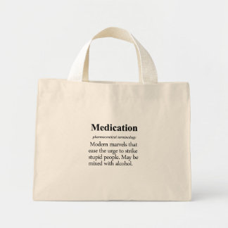 Medication Definition Mini Tote Bag