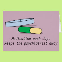 Medication each day card (psychiatrist)