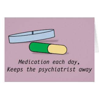 Medication each day card (psychiatrist)