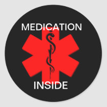 Medication Inside Sticker