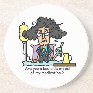 Medication Side Effect Dark Hair Drink Coasters