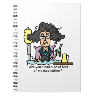Medication Side Effect Dark Hair Note Books