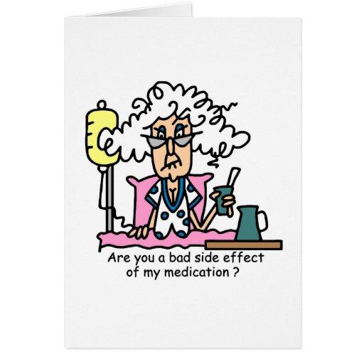 Medication Side Effect Humor Card